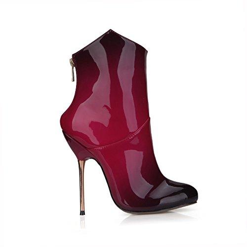 de Mesdames noir Démarrer talon talon produits Boot fer Mesdames rouge l'hiver nouveaux Hauteur xSz0x