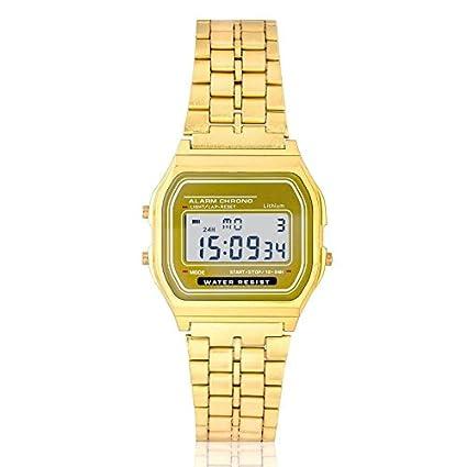 Reloj Dorado Retro vintage digital Vintage