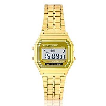Reloj Dorado Retro vintage digital Vintage: Amazon.es: Bricolaje y herramientas