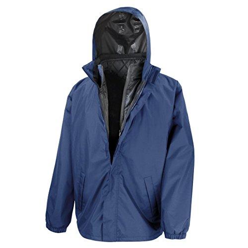 Nueva Resultado Core 3-in-1jacket W/acolchado chaleco impermeable elegante Abrigo Top azul marino
