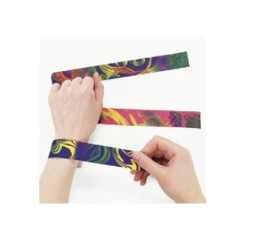 Dozen Nylon Tie Dyed Slap Bracelets