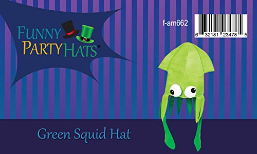 e378c926 Green Squid Hat Mix - Large Squid Hat In Green With Crazy Eyes ...