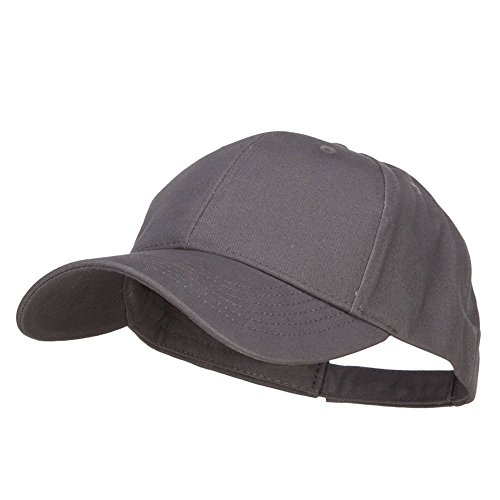 New Big Size Deluxe Cotton Cap - Charcoal (for Big Head)