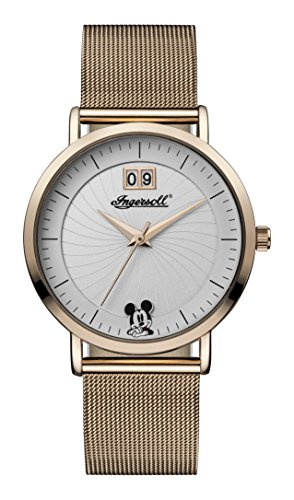 Ingersoll Women's Automatic Metal and Leather Casual Watch, Color:Rose Gold-Toned (Model: ID00504)