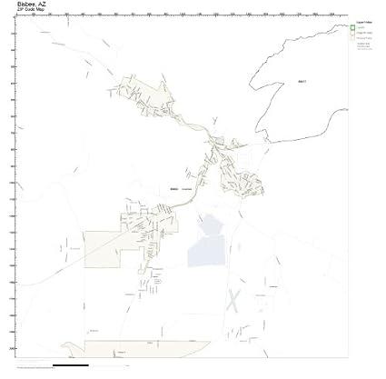 Amazon.com: ZIP Code Wall Map of Bisbee, AZ ZIP Code Map Not