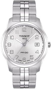 Tissot Silver Dial PR100 Men's Watch