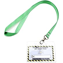 Science Party Favors Kids Lanyards -12 pack Mad Scientist Theme Party Supply Decorations, Doctor Security Clearance Personalize Label in Plastic Tag Holder with Green Straps