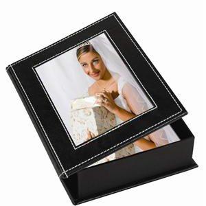 Neil Enterprises White Stitch Photo Memory Box - Case of 12