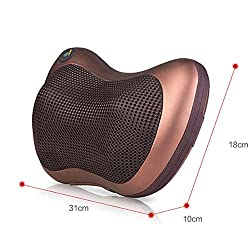 HXXXIN Car Home Dual-Use Massage Pillow, Neck Waist and Leg Massage, One-Button Start, Easy to Carry