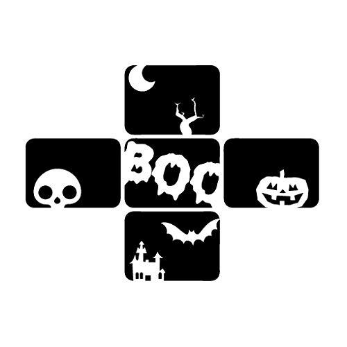 Halloween Box of Terror - Message Decal [12cm Black] Vinyl Sticker for Car, Bike, iPad, Laptop, MacBook, Helmet