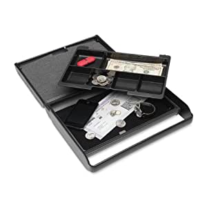 MMF Industries Steelmaster Slim Security Case with Keyed Lock, 2.38 x 8.5 x 8.5 Inches, Charcoal Grey (2217004G2)