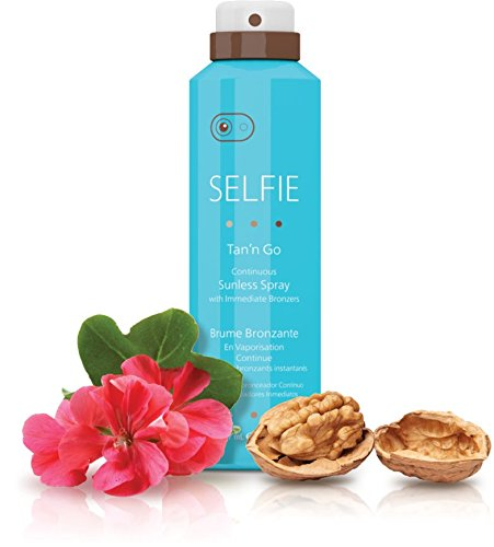 Selfie, Tan'n Go, Continuous Sunless Spray with immediate bronzers 12.5 oz
