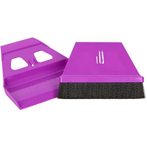 Mini Hand Sweeper (miniWISP Small Broom and Dustpan Set the Best Mini Hand Broom with Electrostatic Bristle Seal Technology (Purple))