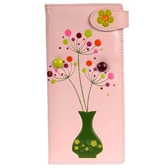Shagwear Women's Large Wallet (Baby Pink Flower)