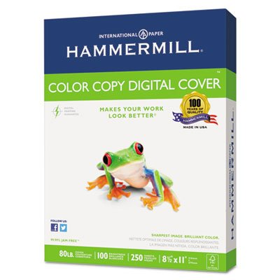 Copier Digital Cover Stock, 80 lbs, 8 1/2 x 11, Photo White, 250 Sheets, Total 8 PK by Hammermill (Image #1)