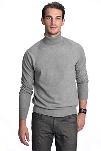- State Cashmere Men's 100% Pure Cashmere Turtleneck Long Sleeve Pullover Sweater