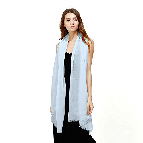 (JULY SHEEP Pure 100% lamb wool Ultra Thin Scarf Womens Soft Long Scarves Shawl Wraps)