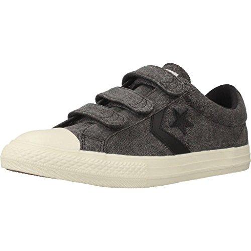 Converse Unisex-Kinder Star Player EV 2v Ox Sneaker Schwarz (Almost Black/Egret)