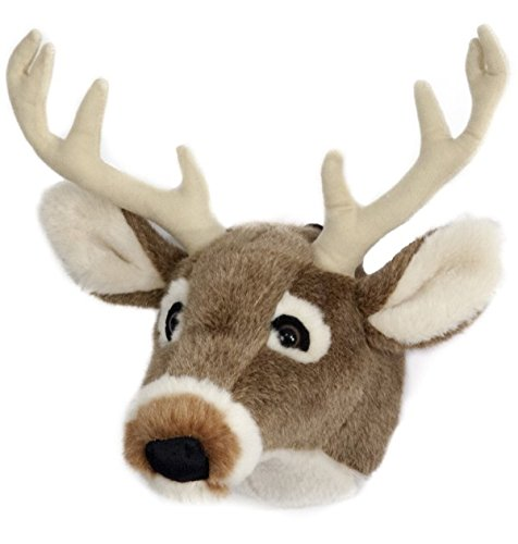 Deer Head Trophy - Carstens Plush White Tail Deer Trophy Head, Large