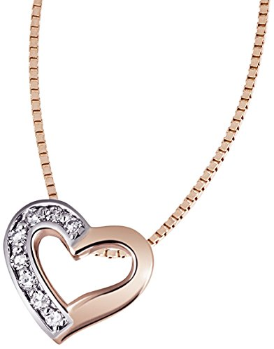 Goldmaid - He C5940RG - Collier Femme - Or 9 Cts 375/1000 2.25 Gr - Diamant