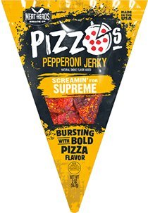 Feast Pizza - MEAT HEADS PIZZO's Pepperoni Pizza Style Jerky - (3) pk. Screamin' Supreme with the same toppings you'd find on a supreme pizza~ YUM!