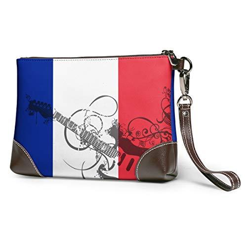 Flag Of France Real Cowhide Men Women Zipper Wallet Hyun Cool 3D Panda Tie Dye Christmas ()