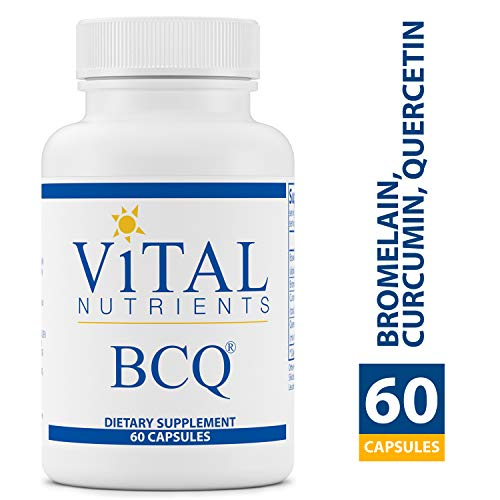 Vital Nutrients - BCQ (Bromelain, Curcumin & Quercetin) - Herbal Support for Joint, Sinus and Digestive Health - Gluten Free - 60 Capsules per - Extra Capsules 60