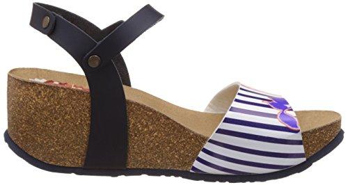 Desigual Shoes_bio 7 Sandal - Sandalias con cuña Mujer Azul - Blue (5000)