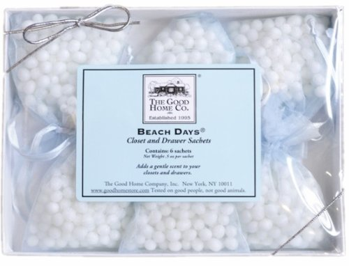 The Good Home Co Beach Days Closet and Drawer Sachets, 0.5 Ounce by The Good Home Co.
