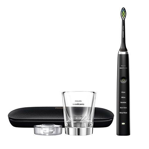 Philips Sonicare Diamond Clean Classic Rechargeable  5 brushing modes, Electric Toothbrush with premium travel case, Black, HX9351/57, 1 Count by Philips Sonicare (Image #1)