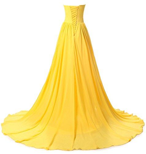 ysmo Mujer Sweetheart Lace Applique Prom Vestido 2016gasa larga noche bata Púrpura