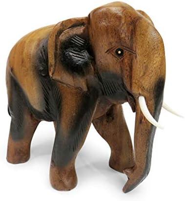Dekofigur Elefant gross antiksilber beschichtet