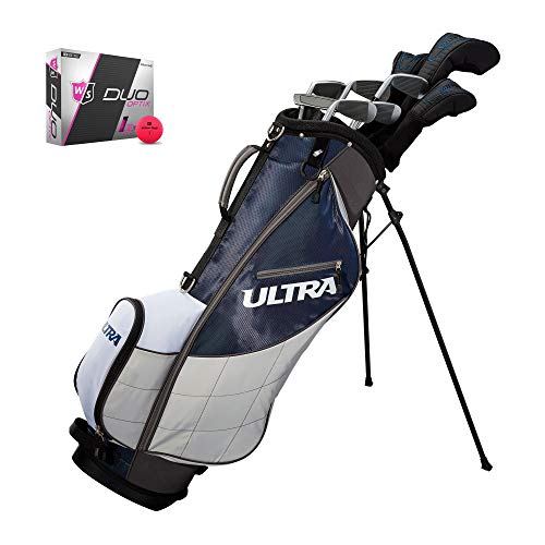 (Wilson Ultra Mens 13 Piece Right Handed Complete Golf Club Set with Bag & Balls)