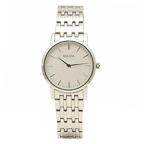 Bulova Men's 96A115 Silver White Dial Bracelet Watch (Polished White Dial)
