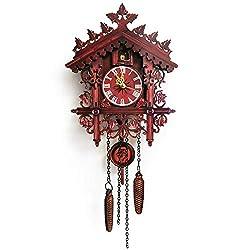DW007 Swing Wall Clock Original Black Forest Cuckoo Clock with Mechanical Bird Hand Made