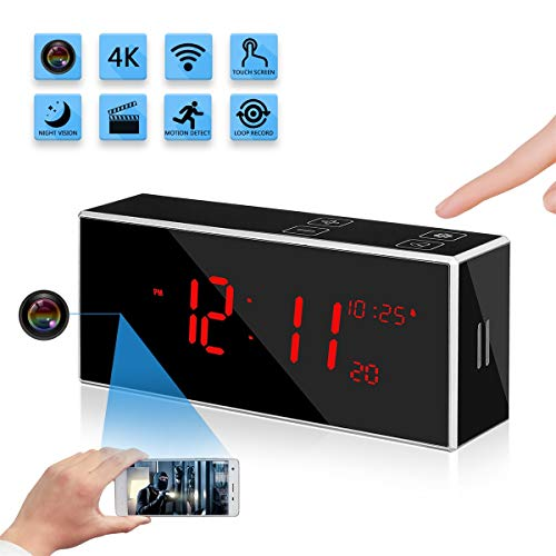 Wireless Hidden Spy Clock Camera with Stronger Night Vision YuanFan Mini Small 4K HD WiFi Smart Nanny Cam Motion Detection 160