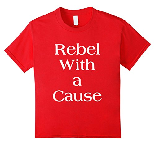 Kids Rebel With a Cause Tee Shirt 4 Red - Cause Rebel T-shirt