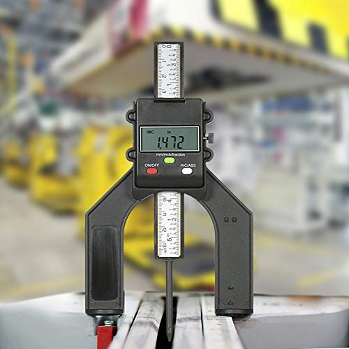 Depth Gauge, Maserfaliw 0-130mm Digital LCD Display Depth Meter Table Saw Height Gauge Woodworking Tool, Holiday Gifts, Home Essential Tools Supplies. (Height Unit)
