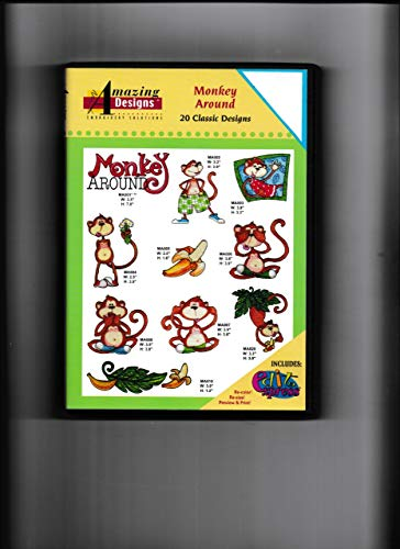 Amazing Designs: Monkey Around - 20 Classic Designs Embroidery Software
