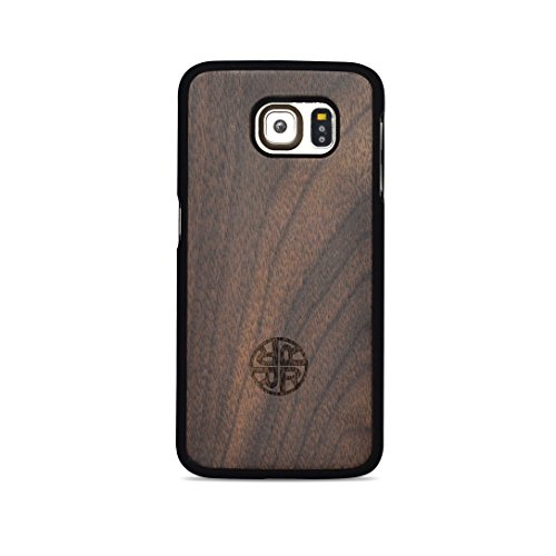 Natural Wood Case - Compatible With Samsung Galaxy S6 - Eco-friendly Design (Wood)
