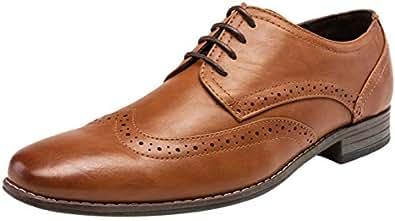6f218c9b40a JOUSEN Men's Oxford Plain Toe Dress Shoes Classic Formal Derby Shoes