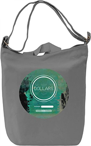 Dollars Borsa Giornaliera Canvas Canvas Day Bag| 100% Premium Cotton Canvas| DTG Printing|