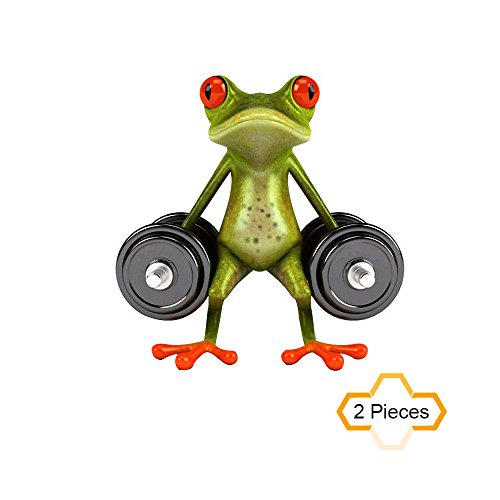 COGEEK 2 Pcs 3D Frogs Waterproof Car Sticker Funny Gecko Decal Cover Exterior Accessories (dumbbell - Sunglasses Dumb