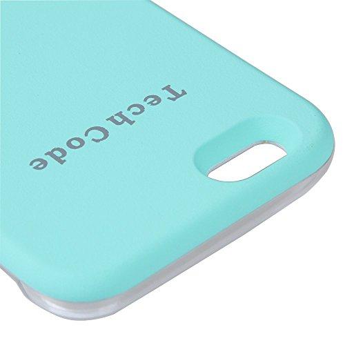 Samsung Galaxy S6LED iluminado Caso de Protectora/Schutzhülle, elecfan Smart illuminated de funda protección iluminada con LED Teléfono Móvil/Case, 2016nuevo entwurfs Hot Pink azul