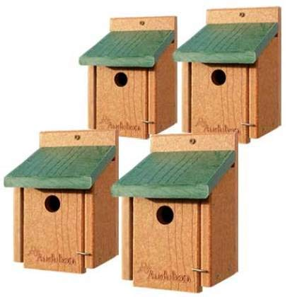BestNest Set of 4 Audubon Recycled Plastic Wren Houses