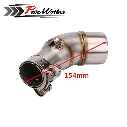 A middle connect for kawasaki Z250SL Motorcycle Exhaust Pipe Muffler Escape Connecting Pipe Front Link Pipe Moto Mid Pipe by pacewalker (Image #1)