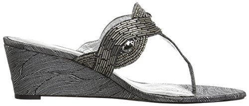 Adrianna Papell Women's Coco Wedge Sandal Pewter Wave Metallic gsPI7mkV