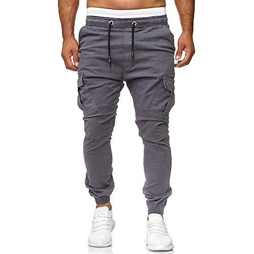 - Workout Leggings for Gym,Men Sweatpants Slacks Casual Elastic Joggings Sport Solid Baggy Pockets Trousers