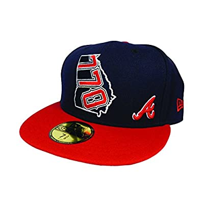 Atlanta Braves 770 AREA CODE STATE Navy Fitted 59Fifty New Era MLB Hat