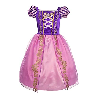 Dressy Daisy Girls' Princess Dress up Fairy Tales Costume Cosplay Party with Long Braid Accessories: Clothing